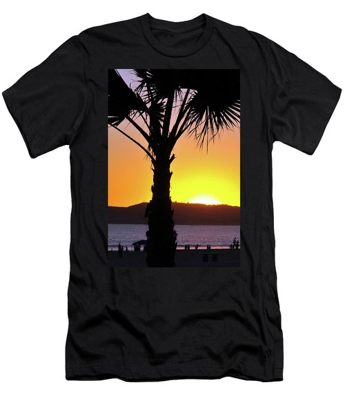 Palm At Sunset Men's T-Shirt (Athletic Fit)