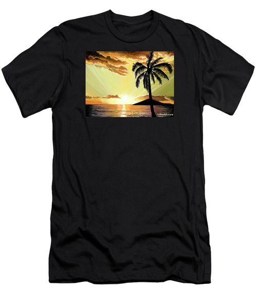 Palm Beach Sunset Men's T-Shirt (Athletic Fit)