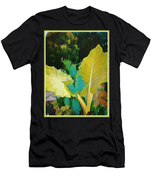 Men's T-Shirt (Slim Fit) featuring the painting Palm Branches by Mindy Newman