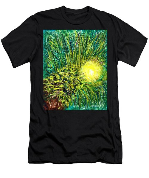 Palm Sunburst  Men's T-Shirt (Athletic Fit)