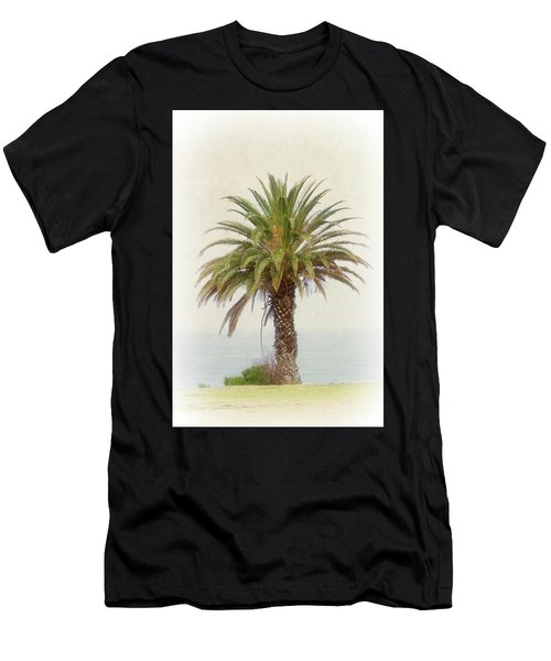 Palm Tree In Coastal California In A Retro Style Men's T-Shirt (Athletic Fit)