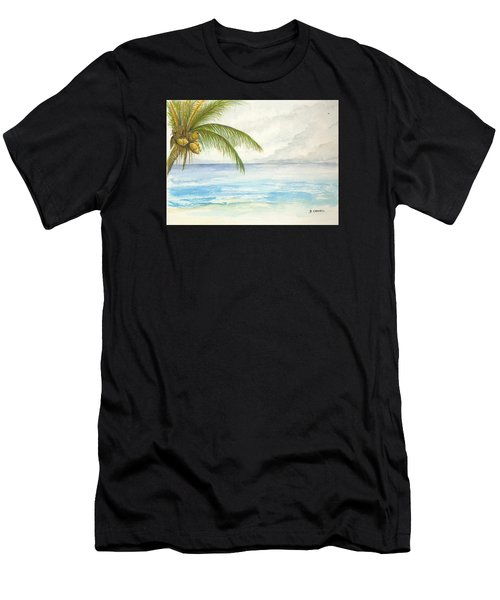 Men's T-Shirt (Athletic Fit) featuring the digital art Palm Tree Study by Darren Cannell