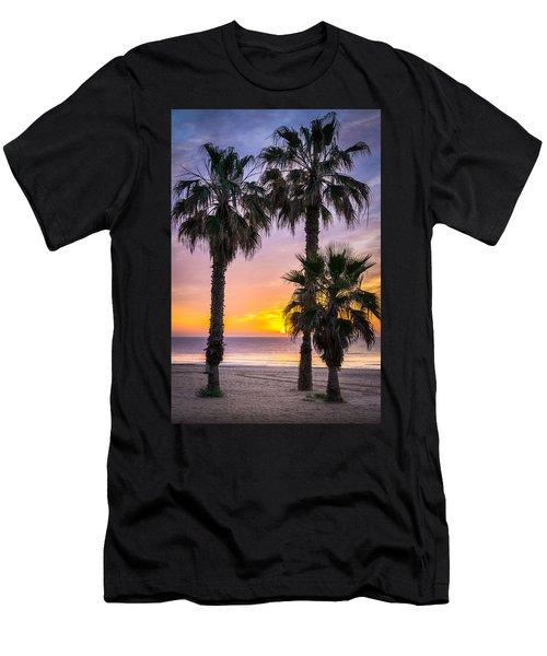 Palm Tree Sunrise. Men's T-Shirt (Athletic Fit)