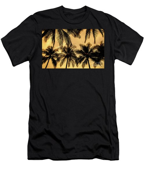 Palm Trees In Sunset Men's T-Shirt (Slim Fit) by Iris Greenwell