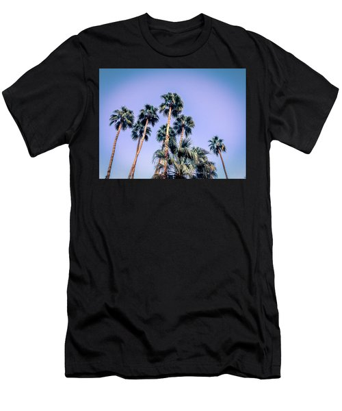 Palm Trees Palm Springs Summer Men's T-Shirt (Athletic Fit)
