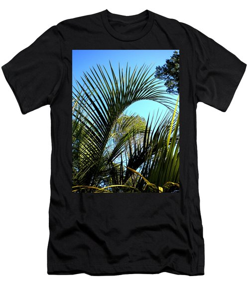 Men's T-Shirt (Slim Fit) featuring the painting Palmetto 2 by Renate Nadi Wesley