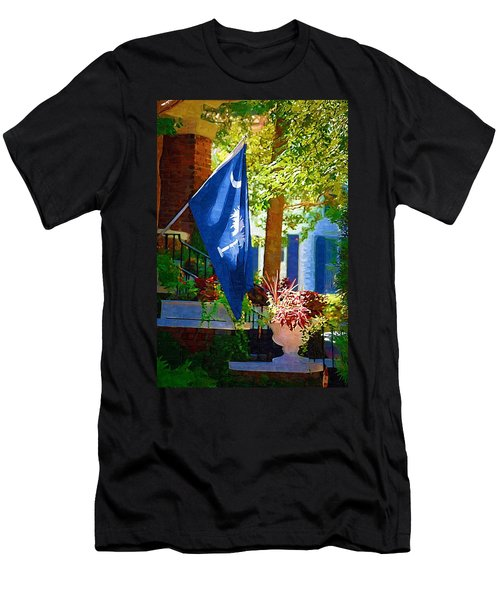 Men's T-Shirt (Athletic Fit) featuring the photograph Palmetto Flag by Donna Bentley