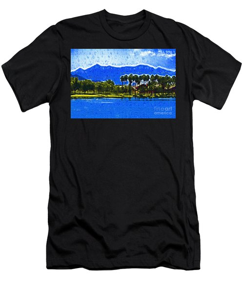 Palms And Mountains Men's T-Shirt (Slim Fit) by Kirt Tisdale