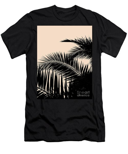 Palms On Pale Pink Men's T-Shirt (Athletic Fit)
