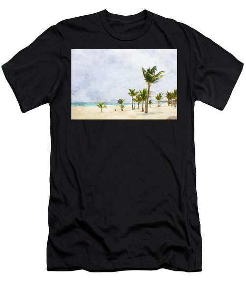 Palmtrees In Punt Cana Men's T-Shirt (Athletic Fit)