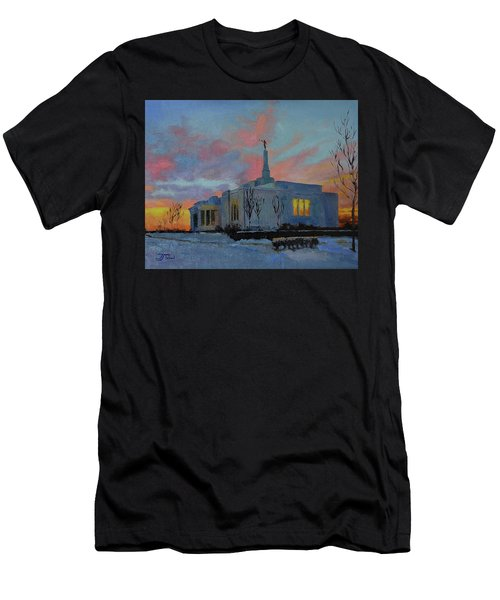 Palmyra Temple At Sunset Men's T-Shirt (Athletic Fit)