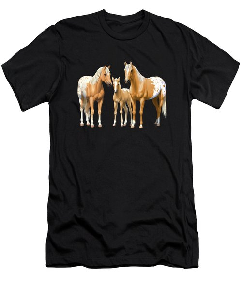 Palomino Appaloosa Horses In Winter Men's T-Shirt (Athletic Fit)