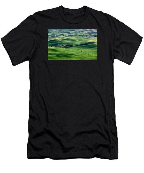 Palouse Wheat Farming Men's T-Shirt (Athletic Fit)