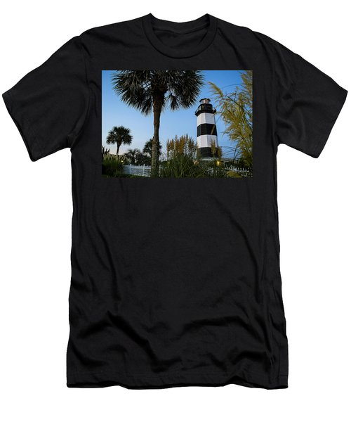 Pampas Grass, Palms And Lighthouse Men's T-Shirt (Athletic Fit)
