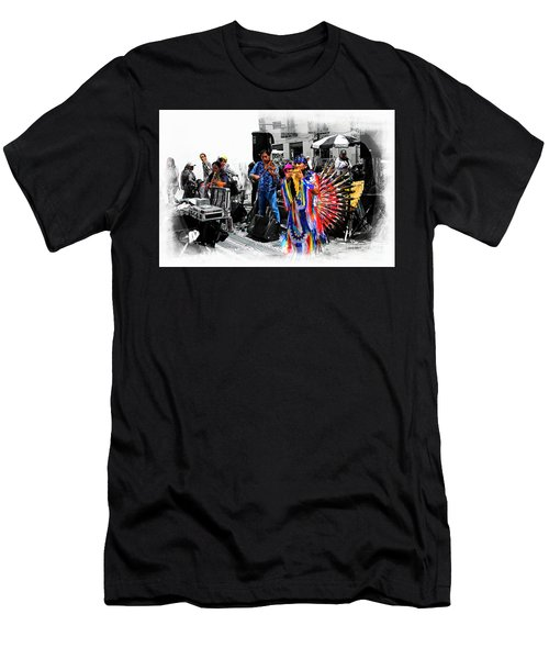 Pan Flutes In Cuenca Men's T-Shirt (Slim Fit) by Al Bourassa