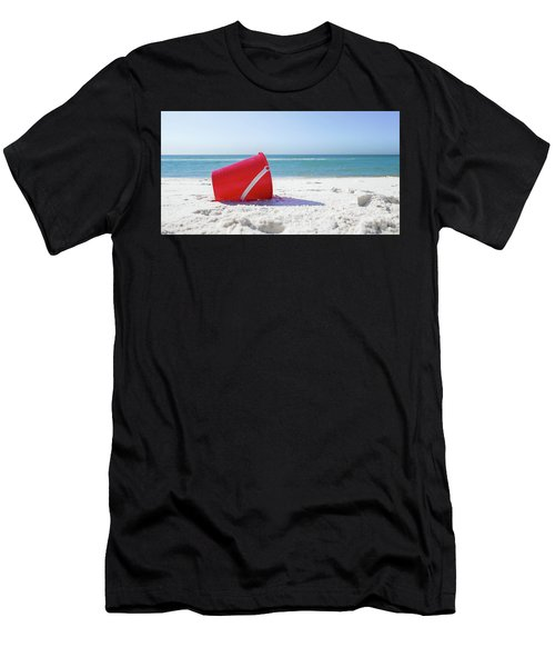 Panama Beach Florida Sandy Beach Men's T-Shirt (Athletic Fit)