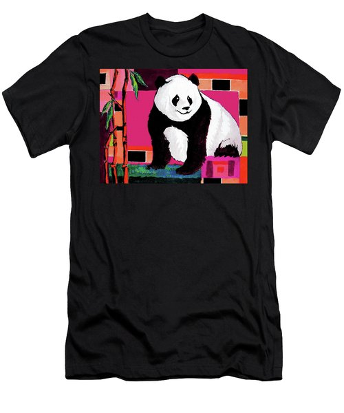 Panda Abstrack Color Vision  Men's T-Shirt (Athletic Fit)