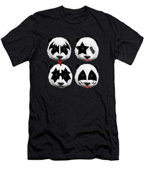 Panda Kiss  Men's T-Shirt (Slim Fit) by Mark Ashkenazi
