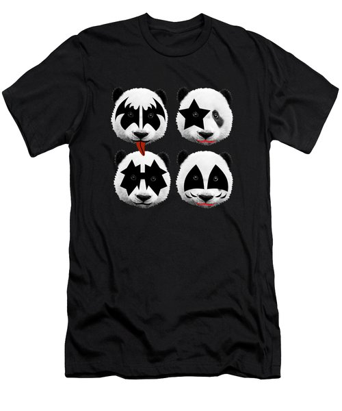 Panda Kiss  Men's T-Shirt (Slim Fit)