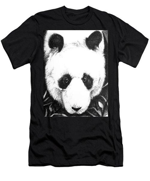 Panda Portrait Men's T-Shirt (Athletic Fit)
