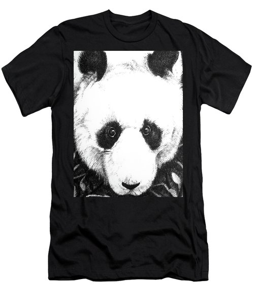 Panda Portrait Men's T-Shirt (Athletic Fit)