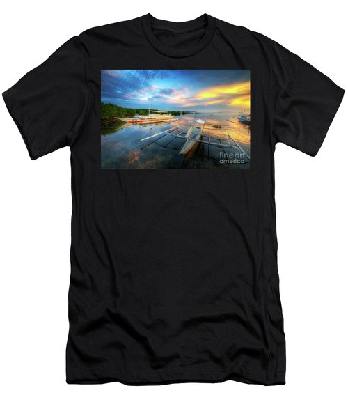 Men's T-Shirt (Slim Fit) featuring the photograph Panglao Port Sunset 9.0 by Yhun Suarez