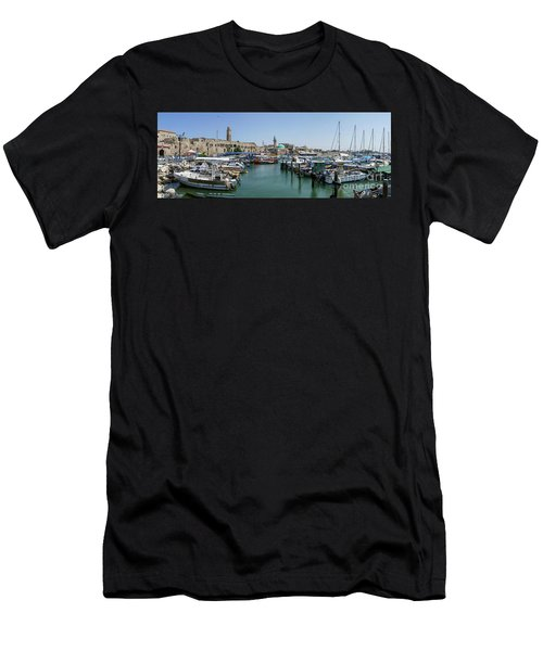 Panorama In Acre Harbor Men's T-Shirt (Athletic Fit)