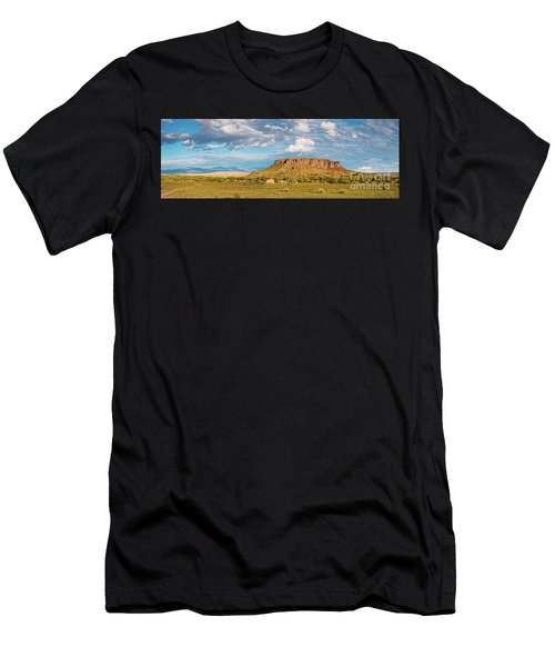 Panorama Of Black Mesa At San Ildefonso Pueblo - New Mexico Land Of Enchantment Men's T-Shirt (Athletic Fit)