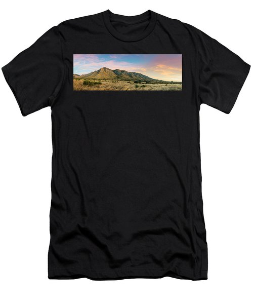 Panorama Of Hunter Peak And Frijole Ridge At Guadalupe Mountains National Park - West Texas Men's T-Shirt (Athletic Fit)