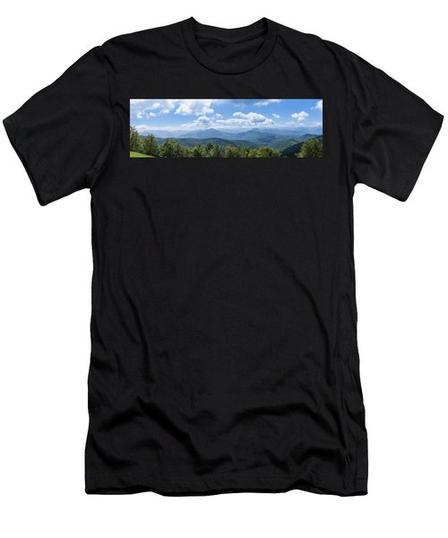 Panorama Of The Foothills Of The Pyrenees In Biert Men's T-Shirt (Athletic Fit)