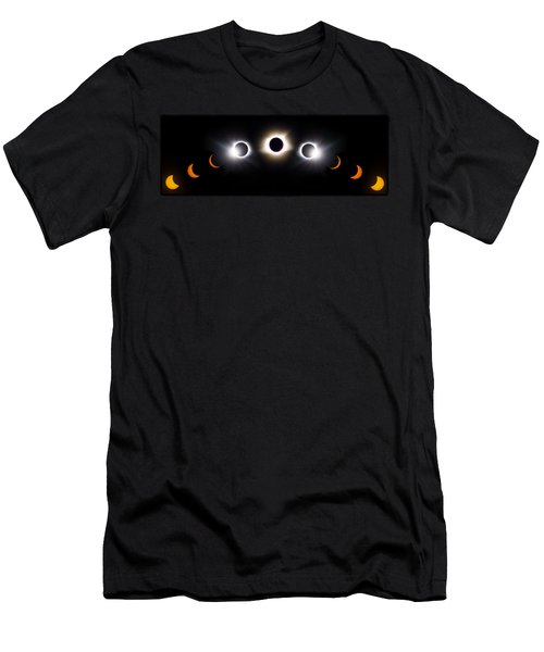 Panorama Total Eclipse T Shirt Art Phases  Men's T-Shirt (Athletic Fit)