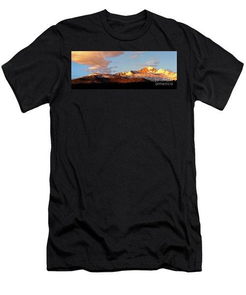 Panorama View Of Longs Peak At Sunrise Men's T-Shirt (Athletic Fit)