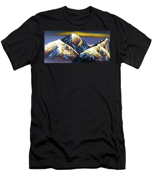 Panoramic Night View Of Everest Mountain Men's T-Shirt (Athletic Fit)