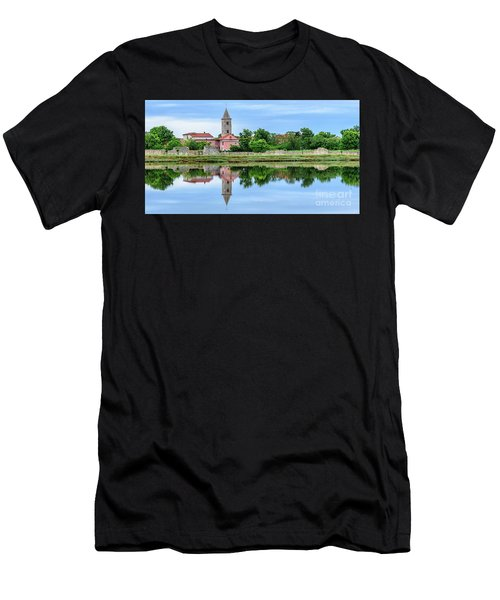Panoramic Reflections Of Nin, Croatia Men's T-Shirt (Athletic Fit)