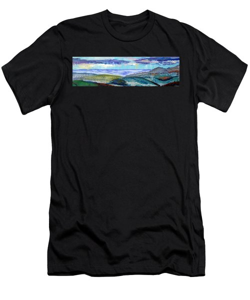 Panoramic View From Exeter Of Devon Hills Men's T-Shirt (Athletic Fit)
