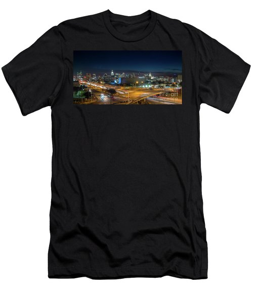 Panoramic View Of Busy Austin Texas Downtown Men's T-Shirt (Athletic Fit)