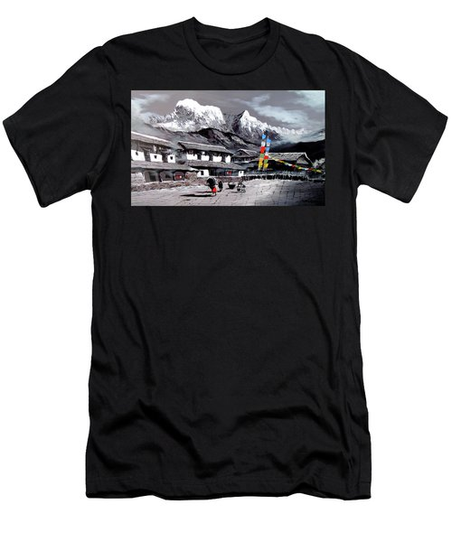 Panoramic View Of Everest Base Camp Men's T-Shirt (Athletic Fit)