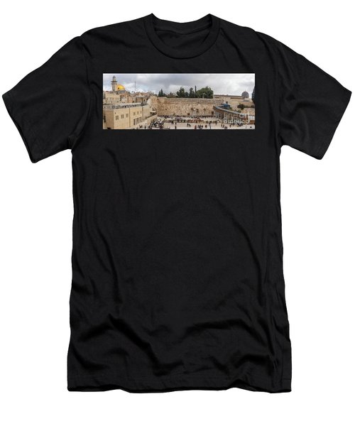 Panoramic View Of The Wailing Wall In The Old City Of Jerusalem Men's T-Shirt (Athletic Fit)