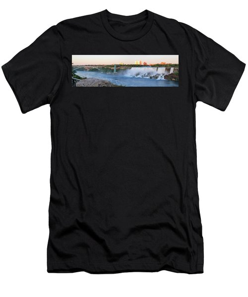 Panoramic Views Of The Peacebridge, Niagara River And American Falls Men's T-Shirt (Athletic Fit)