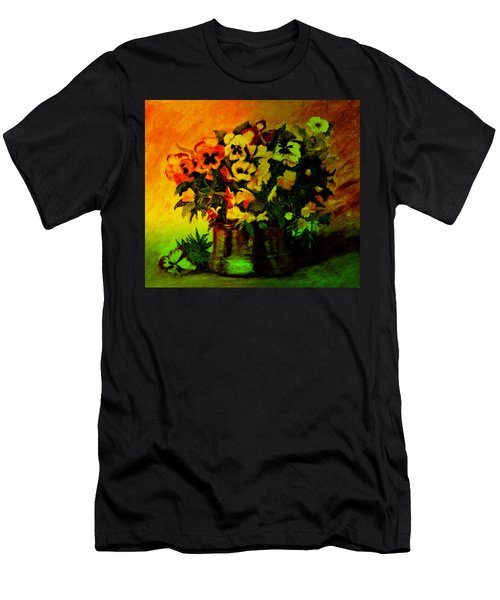 Pansies In The Vase Men's T-Shirt (Athletic Fit)