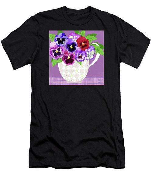 Pansies Stand For Thoughts Men's T-Shirt (Athletic Fit)