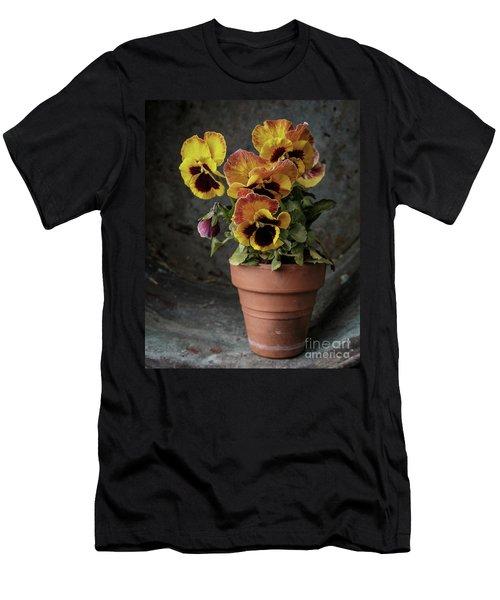 Pansy Flowers Men's T-Shirt (Athletic Fit)