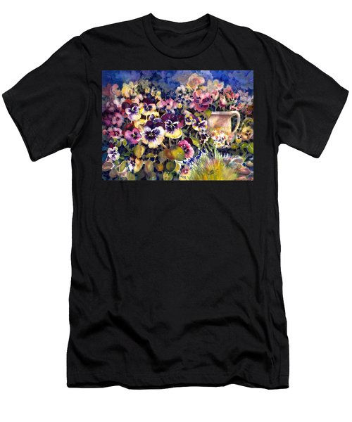 Pansy Garden Men's T-Shirt (Athletic Fit)