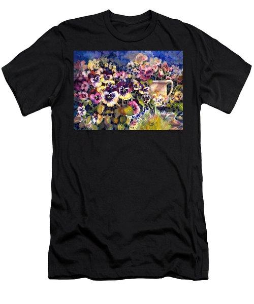 Pansy Garden Men's T-Shirt (Athletic Fit)
