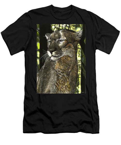 Panther Contemplates Men's T-Shirt (Athletic Fit)