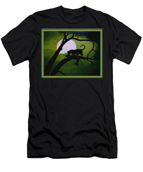 Panther Silhouette - Use Red-cyan 3d Glasses Men's T-Shirt (Athletic Fit)