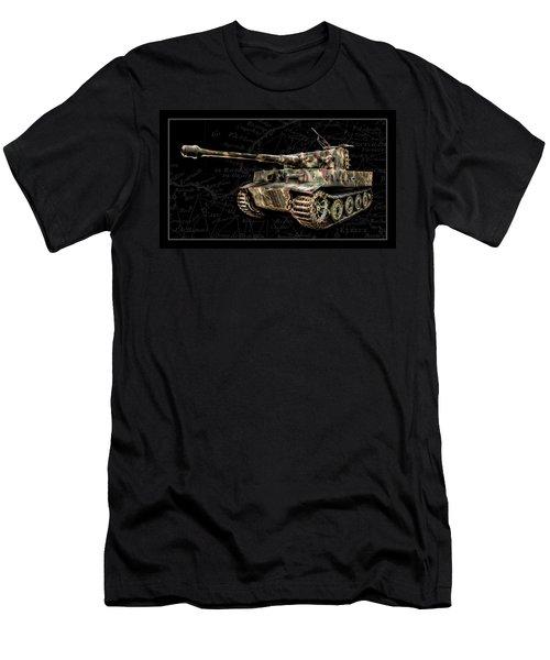 Panzer Tiger I Side Bk Bg Men's T-Shirt (Athletic Fit)
