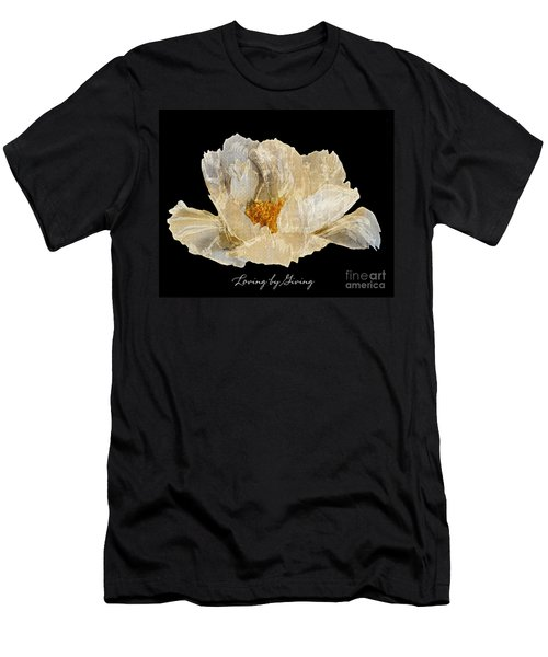 Paper Peony Loving By Giving Men's T-Shirt (Slim Fit) by Diane E Berry