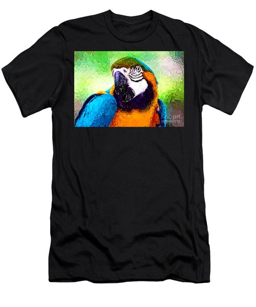 Pappagallo - Parrot Ara Ararauna Men's T-Shirt (Slim Fit) by Zedi