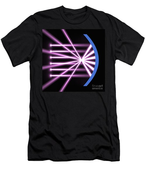Men's T-Shirt (Slim Fit) featuring the digital art Parabolic Reflector 2 by Russell Kightley